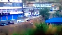 Watch_Vehicles washed away as road collapses into river in Shanxi Province
