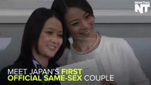 Lesbian Couple Receives Japan's First Official Same Sex Marriage Certificate