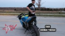 Motorcycle STUNTS Street Bike WHEELIES + DRIFTING + STOPPIE Kawasaki Ninja ZX6R Stunt Bike