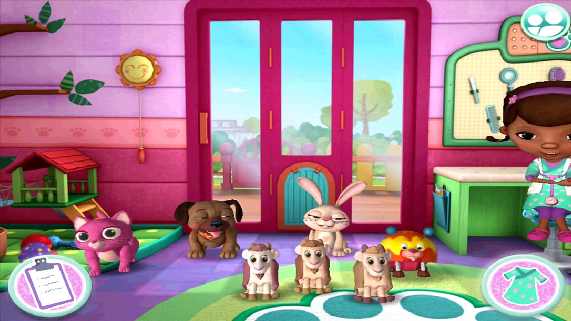 Doc McStuffins Pet Vet  Game Episode Fixing Pet Toys - Kids Cartoon Episode