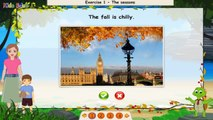 Four Seasons, learning Different Seasons, Funny Game for Kids, Preschool & Kindergarten Ac