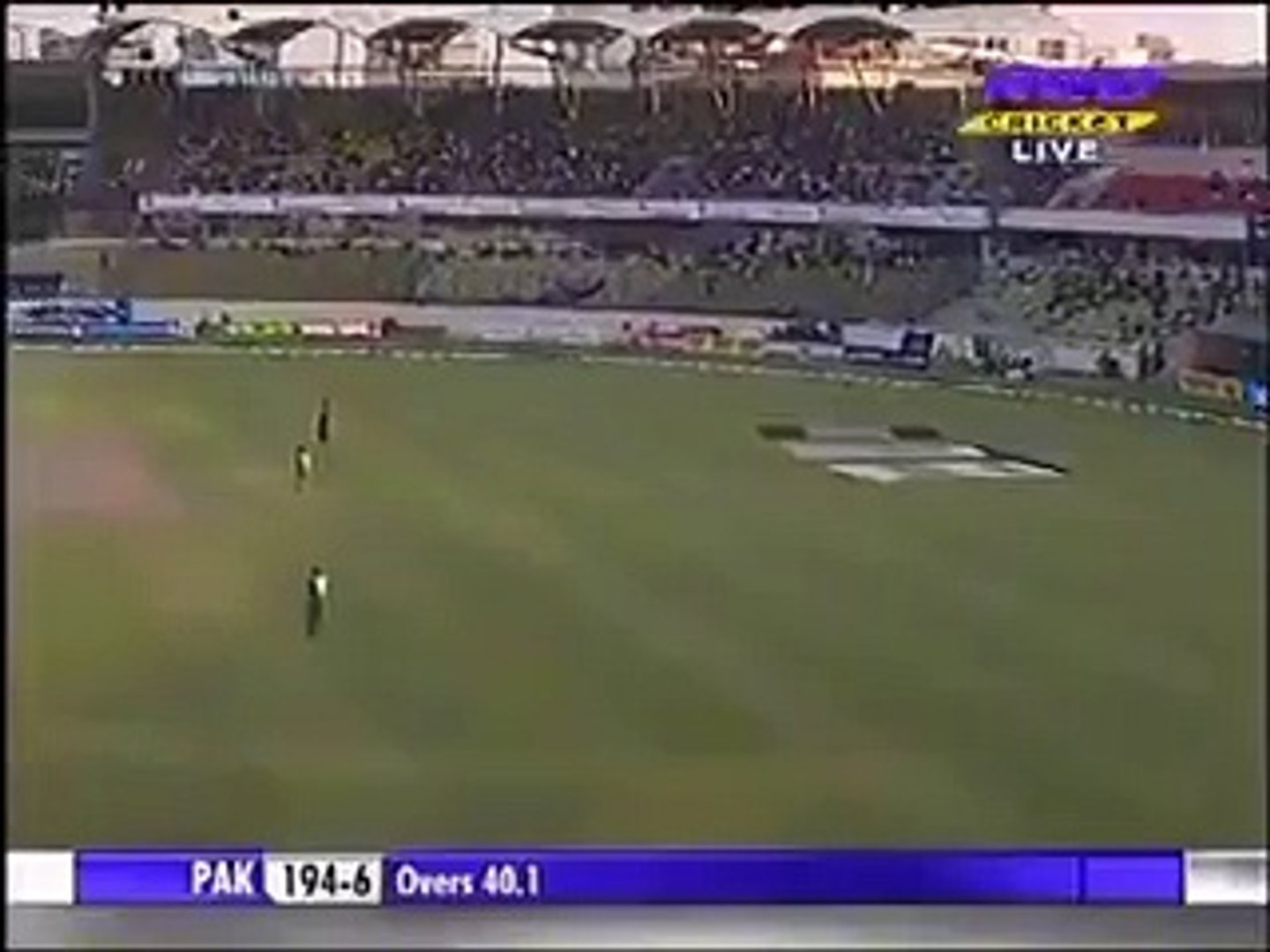 Most funniest Dismissal in Cricket history - Shahid Afridi Wicket - 11 March 2012