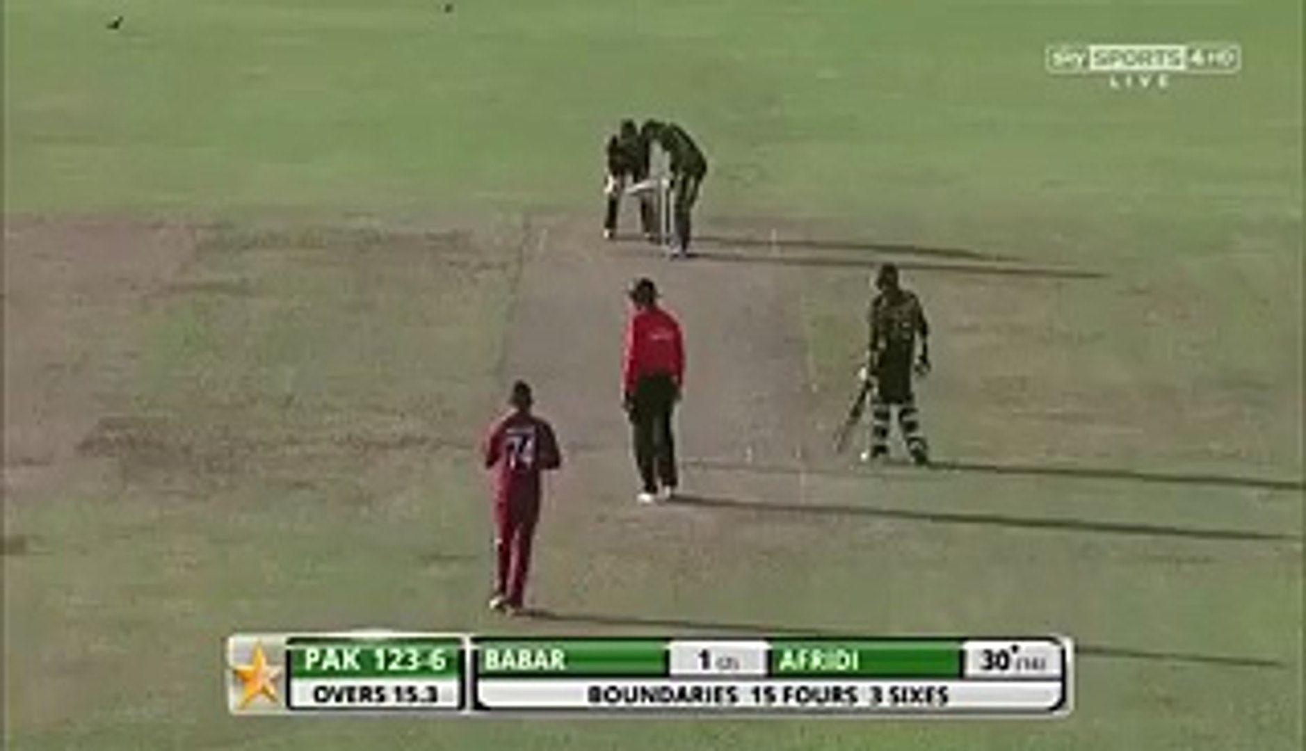 Shahid Afridi saying (O Teri Khair) on Sunil Narine Delivery