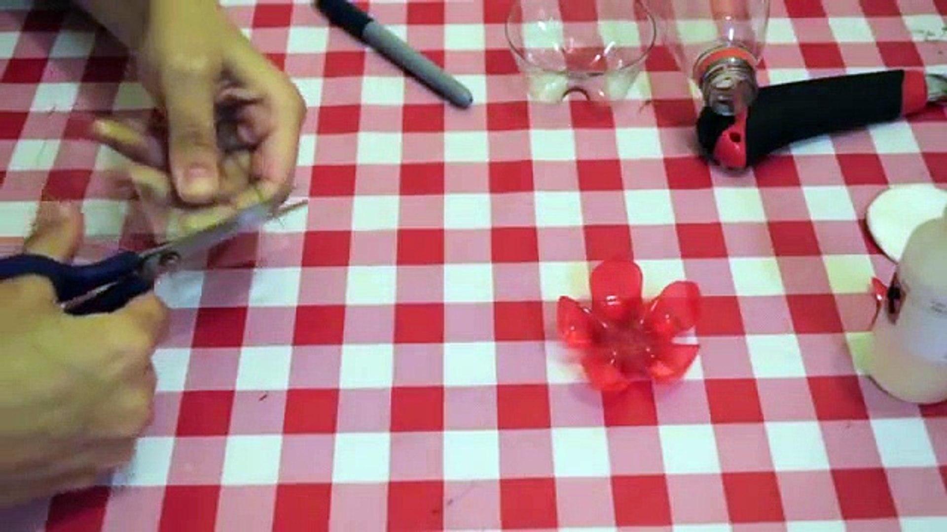 Make a Plastic bottle Flower. Recycle your Soda bottle