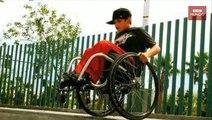 Acrobacias mortales en silla de ruedas