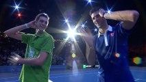 Novak Djokovic danse la macarena au BNP Paribas Masters