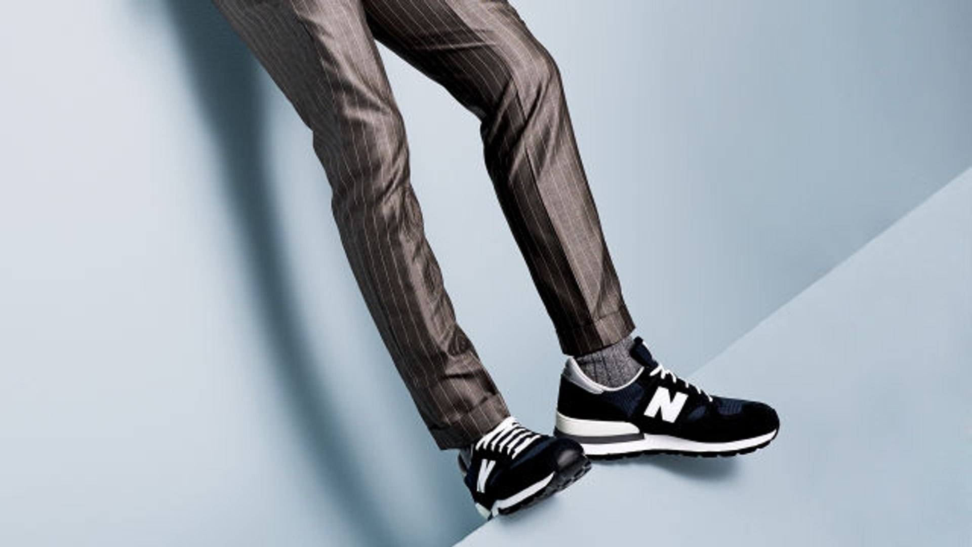 How to Wear Sneakers with a Suit