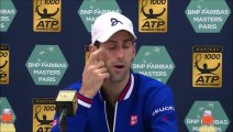 "ATP - BNPPM - Novak Djokovic : ""Honte sur moi de ne pas avoir breaké Tomas Berdych (rires)"""