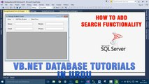 P(3) VB.NET Database Tutorials In Urdu - Add Search Functionality to your application