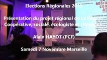 Alain-HAYOT / Elections régionales  PACA/Meeting / 1er décembre 2015 / Marseille