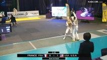 CdM fleuret dames St-Maur 2015 - Equipes Tableau 16 > 1/2 finale + match classement piste verte (8/11/2015)