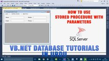 P(5) VB.NET Database Tutorials In Urdu - How to use Stored Procedure with parameters