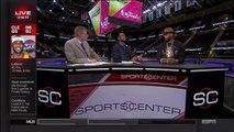 June 09, 2015 ESPN Miami Heats Dwayne Wade Interviews LeBron James Following Finals Game