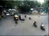 Traffic Accident - Sudden Lane Change by Bangalore Traffic Police