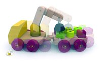 Shapes for babies toddlers kids children kindergarten. Learn shapes with a shape sorter truck