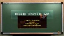 Resto del polinomio de Taylor - forma de Lagrange del resto