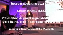 Claude-MICHEL  / Elections régionales  PACA/Meeting / 1er décembre 2015 / Marseille