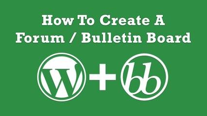 How To Create A Forum with WordPress - Urdu-Hindi