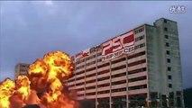Building & Bridge Explosion Video With Debris Falling Sound