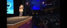 Frozen sing along with Olaf voice Josh Gad at Disneys El Capitan Theatre