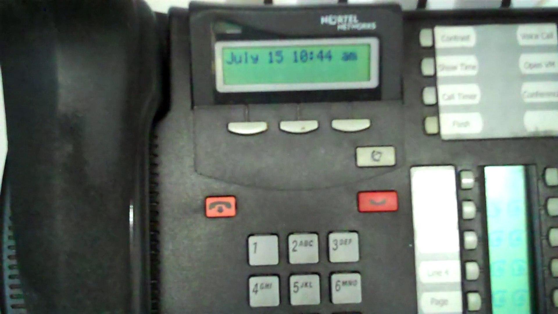 Nortel Networks mailbox locked