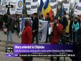 Marş pentru pentru unirea cu România, la Chişinău. Manifestarea a început cu o slujbă de comemorare a victimelor de la clubul Colectiv, apoi participanţii au pornit spre ambasadele României, Germaniei şi SUA
