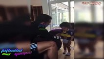 El Hijo de Carlos Tévez se niega quitarse la playera de Boca Juniors