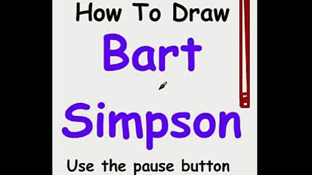 How To Draw Bart Simpson from The Simpsons
