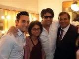 Aamir Khan with wife Kiran Rao, ex wife Reena Dutta, & kids Ira, Junaid, Azad Rao Khan