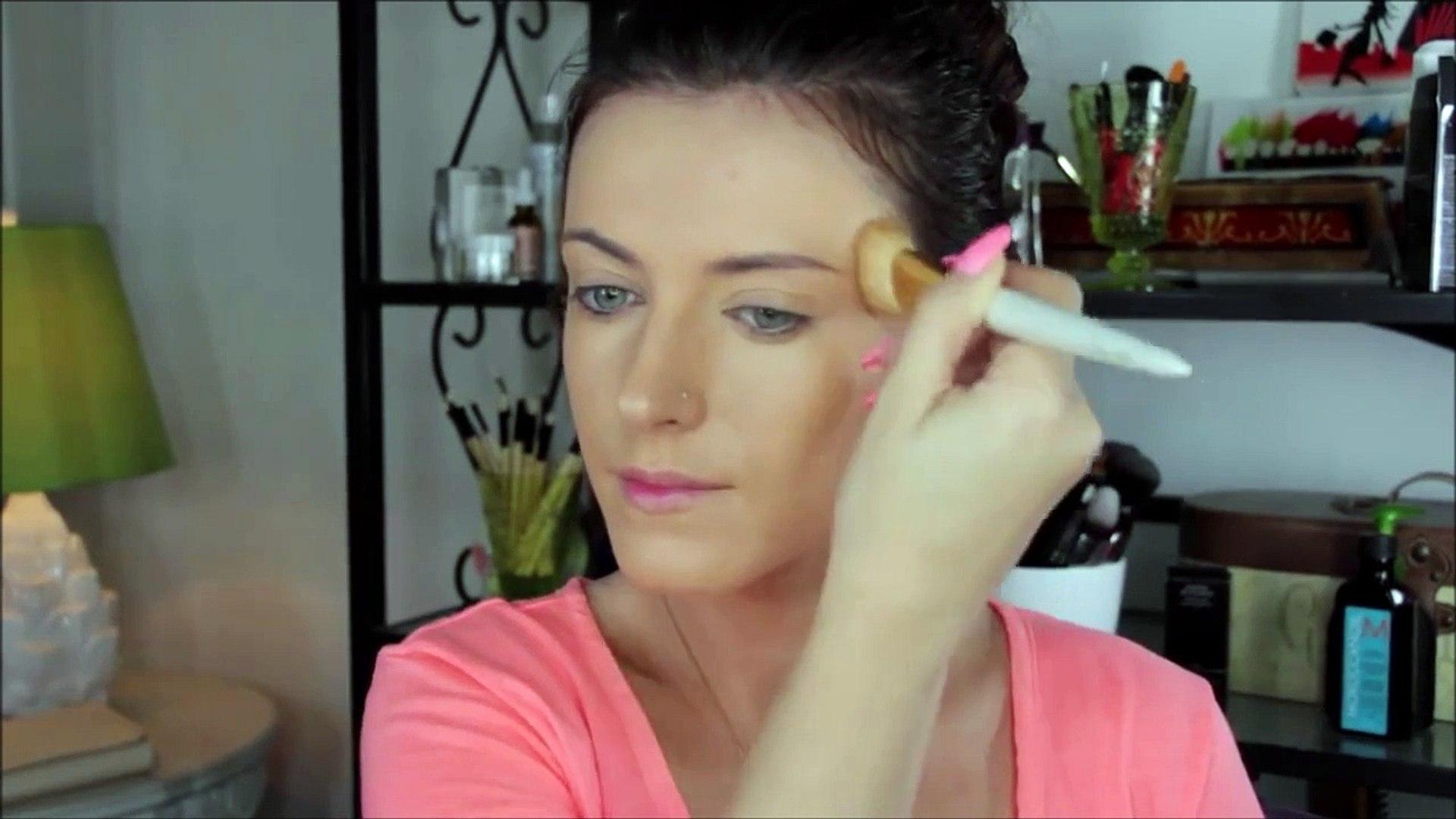 Peach and Bronze Makeup Look----makegirlz.com