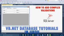 P(7) VB.NET Database Tutorial In Urdu - How to add complex validations