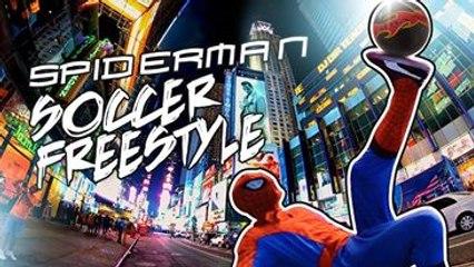 Spiderman Freestyle Football à New York City