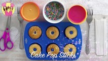SIMPSONS DONUT CAKE POPS Doughnuts with grandma How to baking video by Charlis Crafty Kit