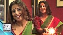 Vidya Balan Celebrates Diwali With Lehren