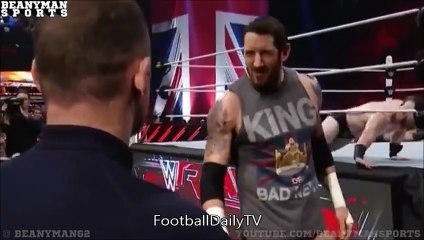 Wayne Rooney Appears On WWE RAW and Slaps Wade Barrett