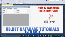 P(8) VB.NET Database Tutorial In Urdu - Reloading Data Into Form