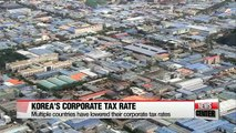 Korea's corporate tax to GDP ratio 6th in OECD