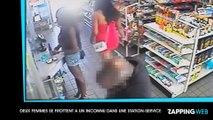 Deux femmes se frottent à un inconnu dans une station-service