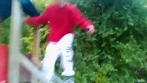 Extreme sport parkour jumps