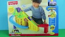 Wheelies Roller Coaster ❤ Disney Cars Wheelies Lightning McQueen Mater, Little People and