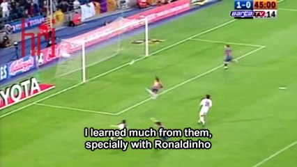 Ronaldinho and Messi Talking About Each Other