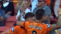 Brisbane Roar FC Central Coast Mariners 2 0. Borrello Goal. Australian A League 18/ 10/ 20