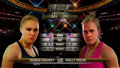 UFC 193 Ronda Rousey Vs. Holly Holm EA Sports UFC Simulation/Perdiction