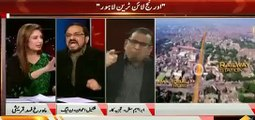 Shakeel Awan PML N and Ibrahim Mughal Fight In Live Show Badly Abusing Each