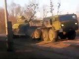 Ukraine War Russian convoy of heavy military equipment near Donetsk, 9th Nov