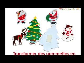 Transformer les gommettes en decorations