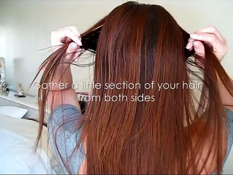 Милый и простой метод сбора волос-Hair Tutorial  Cute and Simple Braid Inspired Hairstyle
