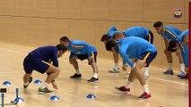 FCB Futsal: Marc Carmona y Cristian valoren la previa FCB Lassa-Magna Navarra [ESP]