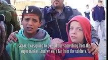 Israeli soldiers brutality. IDF arresting children in occupied Palestine