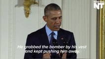 Obama Awards Medal Of Honor To Man Who Tackled Suicide Bomber